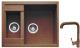 Мойка кухонная Gerhans C01 + смеситель HU01K4698-23 (терракот) -