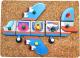 Развивающая игрушка WoodLand Toys Веселые гвоздики. Полетели / 118108 -