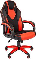 Кресло геймерское Chairman Game 17 (экопремиум, черный/красный) -