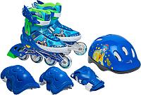 Роликовые коньки Sundays PW-153B-5D (S, set blue) -