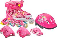 Роликовые коньки Sundays PW-153B-5D (S, set pink) -