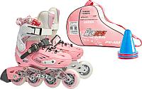 Роликовые коньки Action PW-A68 (M, pink) -