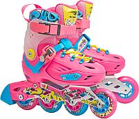 Роликовые коньки Action PW-H88 (M, pink) -