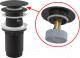 Донный клапан Alcaplast A392 (черный) -