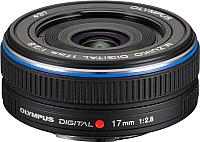 Широкоугольный объектив Olympus М.Zuiko Digital 17mm f2.8  (черный) -