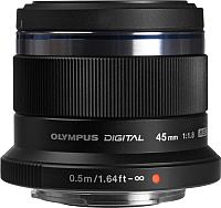Стандартный объектив Olympus М.Zuiko Digital 45mm f1.8 (черный) -