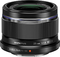 Стандартный объектив Olympus М.Zuiko Digital 25mm f1.8 (черный) -