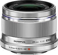 Стандартный объектив Olympus М.Zuiko Digital 25mm f1.8 (серебристый) -