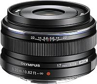 Широкоугольный объектив Olympus М.Zuiko Digital 17mm f1.8 (черный) -