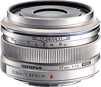 Широкоугольный объектив Olympus М.Zuiko Digital 17mm f1.8 (серебристый) -