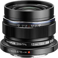 Широкоугольный объектив Olympus М.Zuiko Digital ED 12mm f2.0 (черный) -