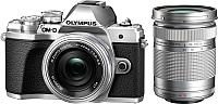 Беззеркальный фотоаппарат Olympus E-M10 Mark III Kit 14-42mm EZ + 40-150mm R (серебристый) -