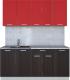 Готовая кухня Интерлиния Мила Лайт 1.8 (красный/дуб венге) -