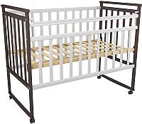 Детская кроватка ФА-Мебель Дарья 3 (венге/белый) -