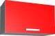 Шкаф под вытяжку Интерлиния Мила Лайт ВШГ60-360 (красный) -