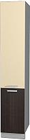 Шкаф-пенал кухонный Интерлиния Мила Лайт НШП-№2-2145 (ваниль/дуб венге) -