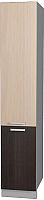 Шкаф-пенал кухонный Интерлиния Мила Лайт НШП-№2-2145 (дуб молочный/дуб венге) -