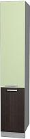 Шкаф-пенал кухонный Интерлиния Мила Лайт НШП-№2-2145 (салатовый/дуб венге) -