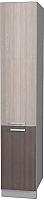 Шкаф-пенал кухонный Интерлиния Мила Лайт НШП-№2-2145 (ясень светлый/ясень темный) -