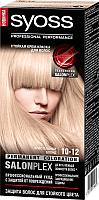 Крем-краска для волос Syoss Salonplex Permanent Coloration 10-12 (кристальный блонд) -