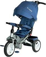 Детский велосипед с ручкой Lorelli Jaguar Air Wheels / 10050390001 (синий) -