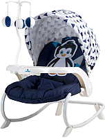Детский шезлонг Lorelli Dream Time Blue White Pinguin (10110061944) -