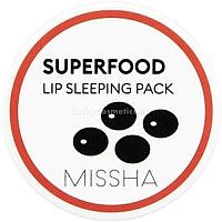 Маска для губ Missha Super Food Black Bean Lip Sleeping Pack (7г) -