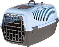 Переноска для животных Trixie Traveller Capri III 39832 (темно-серый/нежно-голубой) -