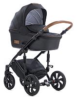 Детская универсальная коляска Tutis Viva Life 2 в 1 (070/черный муар/кожа антрацит) -