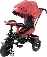 Детский велосипед с ручкой Trike Favorit Lux FTL-1210-1 (красный) -
