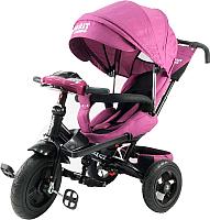 Детский велосипед с ручкой Trike Favorit Lux FTL-1210-1 (фиолетовый) -