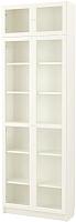 Шкаф с витриной Ikea Билли/Оксберг 492.440.11 -
