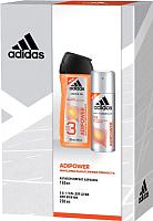 Набор косметики для тела Adidas Adipower антиперспирант 150мл+гель д/душа 250мл -