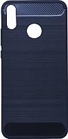 Чехол-накладка Case Brushed Line для Honor 8X (матовый синий) -