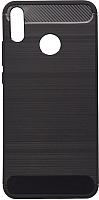 Чехол-накладка Case Brushed Line для Honor 8X (матовый черный) -