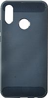 Чехол-накладка Case Brushed Line для P Smart 2019 (матовый синий) -