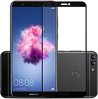 Защитное стекло для телефона Case Full Glue для P Smart 2019 (черный глянец) -