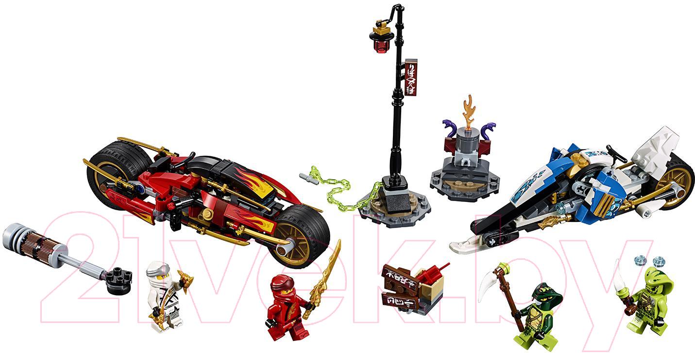 Купить Конструктор Lego, Ninjago Мотоцикл-клинок Кая и снегоход Зейна 70667, Китай, пластик