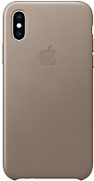 Чехол-накладка Apple Leather Case для iPhone XS Taupe / MRWL2 -