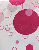 Шторка-занавеска для ванны Miranda Bubble Pink -