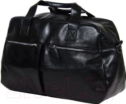 Купить Дорожная сумка BorZa, 718-02301 (черный), Беларусь, искусственная кожа
