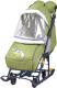 Санки-коляска Ника Наши детки 2 / НДТ2/3 (летчик, оливковый) -