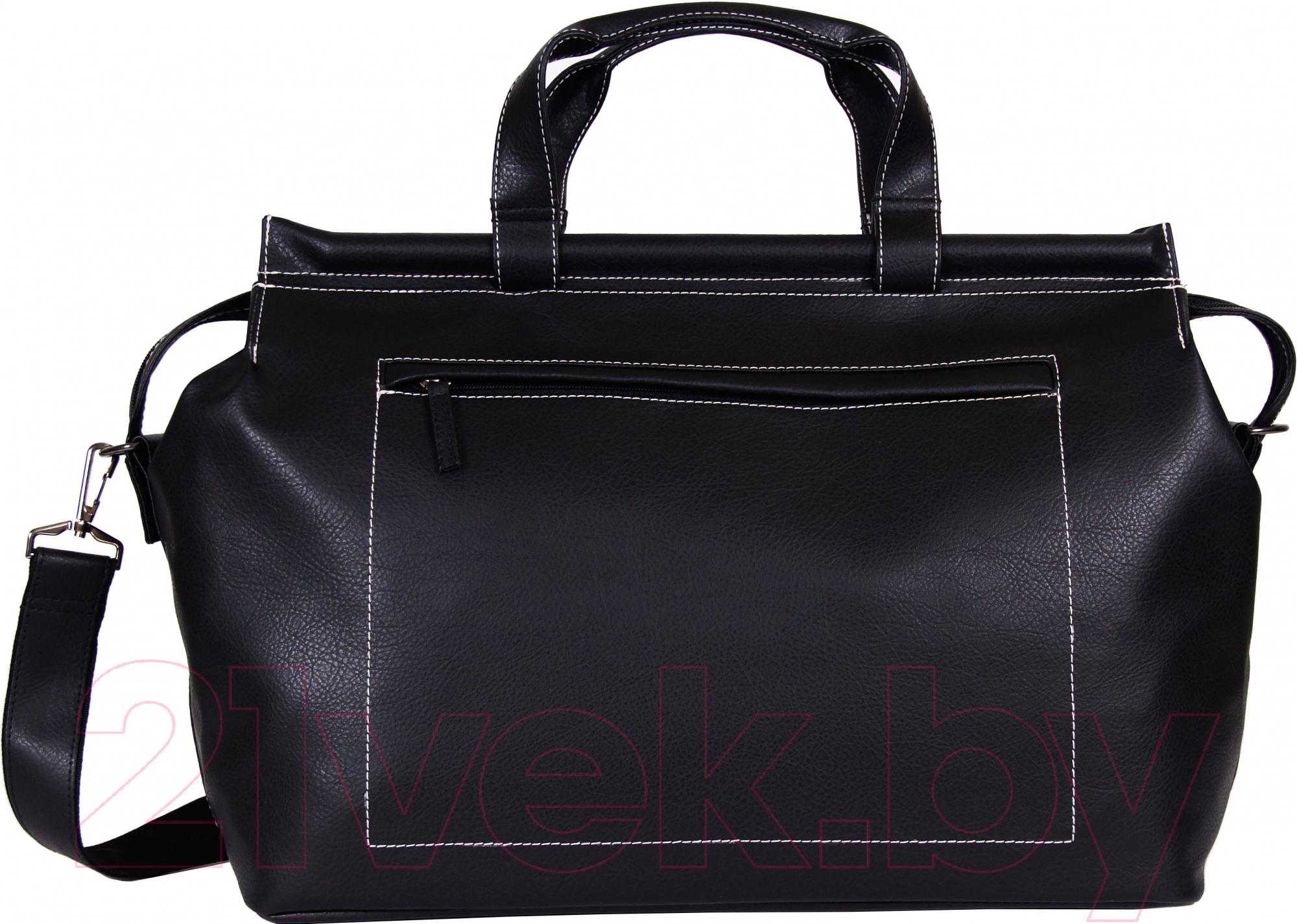 Купить Дорожная сумка BorZa, 716-01001 (черный), Беларусь, искусственная кожа