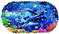 Коврик для ванной Deluxe SPA 1-127 (дельфины) -
