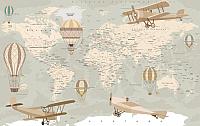 Фотообои листовые Citydecor Карта мира на русском (400x254) -