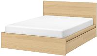Двуспальная кровать Ikea Мальм 092.109.37 -