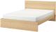 Двуспальная кровать Ikea Мальм 392.109.45 -