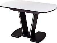 Обеденный стол Домотека Танго ПО 70x110-147 (белый/венге/03) -