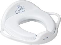 Детская накладка на унитаз Tega Кролики (мягкая, белый) -