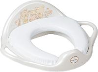 Детская накладка на унитаз Tega Мишки (мягкая, белый жемчуг) -